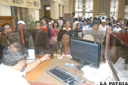 Mejoraron las recaudaciones en el Municipio de Oruro