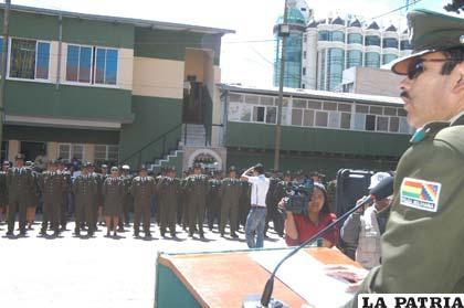 Policía ascendió de grado de 130 de sus efectivos
