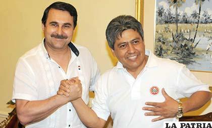 El vicepresidente de Paraguay Federico Franco se pronunció a favor de Mario Cossío