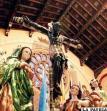 Feligreses veneran al Cristo Negro, cuya efigie está en la Basílica de la ciudad de Esquipulas