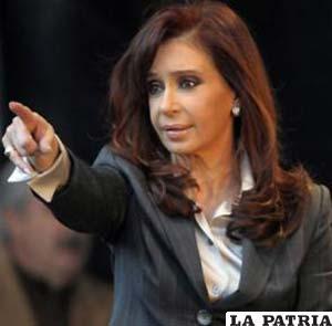La Presidenta de Argentina, Cristina Fernández(Foto archivo)