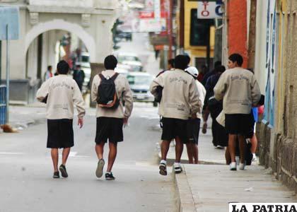 Después del trabajo en el gimnasio, los jugadores se marcharon a sus casas