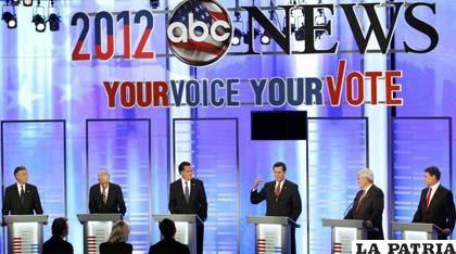 Los aspirantes presidenciales republicanos en el primer debate electoral