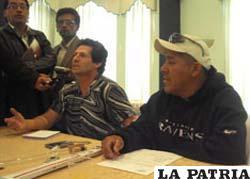 Propietario del hotel, José Luis Bilbao y el experto, Erwin Arispe