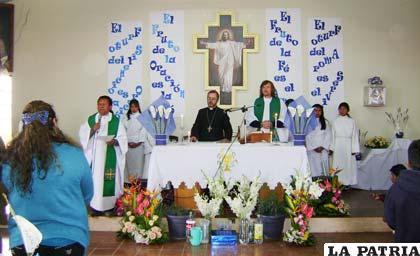 "Obispo Cristóbal Bialasik inaugura nueva parroquia ""Madre Teresa de Calcuta"" en la zona Este"