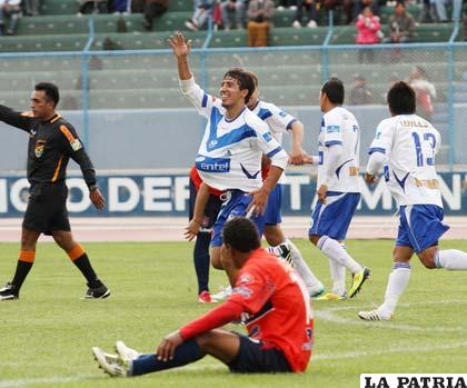 Andrada celebra el gol del empate