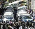 Protesta de transportistas en La Paz