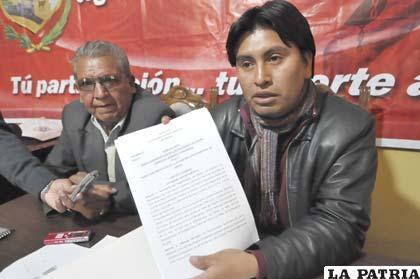 El último día del 2012, asambleístas presentaron el primer borrador del Estatuto Autonómico de Oruro