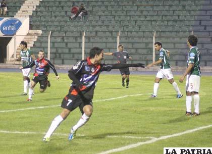 Diego Ardaya anotó tres goles para Nacional Potosí