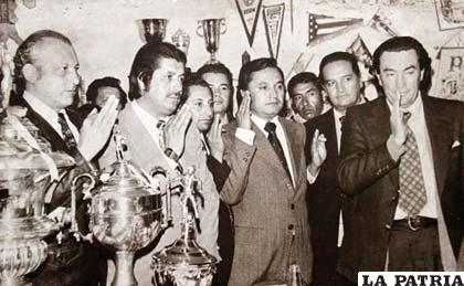 Guery Jordán, Mario Paz Zamora Rojas, Jorge Lonsdale y Mario Mercado