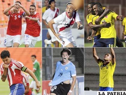 Chile, Perú, Colombia, Paraguay, Uruguay y Ecuador luchan por ganar el sudamericano Sub-20