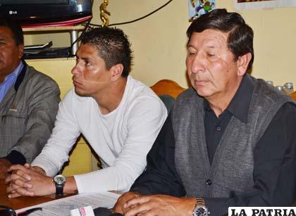 Freddy Fernández durante la presentación de Diego Cabrera