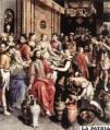 María avisa a Jesús que ya no hay vino en la boda de Caná