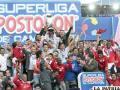 Celebración de los jugadores de Santa Fe por la conquista del título