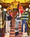 Modelos que mostraron los textiles andinos