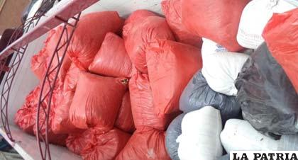 La coca era transportada en forma ilegal