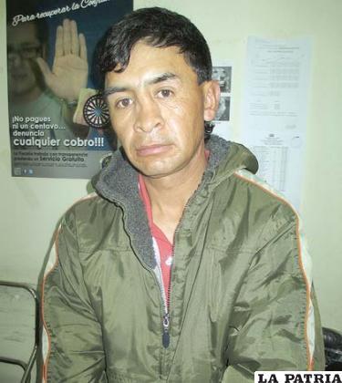 El presunto autor del robo e  integrante de la banda delincuencial