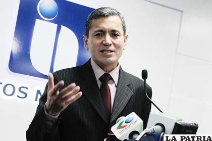 Erik Ariñez, presidente del Servicio de Impuestos Nacionales