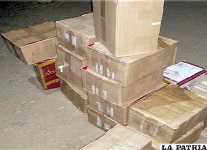 Las cajas de whisky no tenían documentos, ni factura