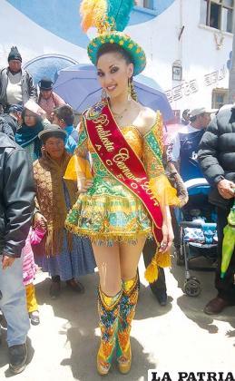 Andrea Gutiérrez continuará la promoción del Carnaval de Oruro