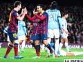 Festejo de los jugadores del Barcelona