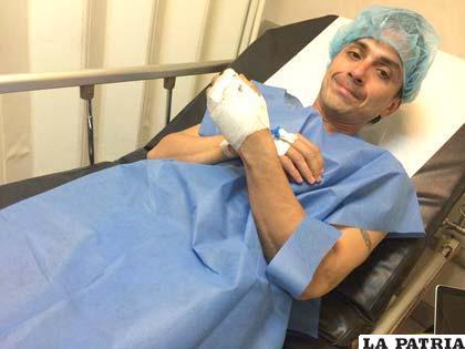 """""""Chavo"""" Salvatierra antes de su intervención quirúrgica"""