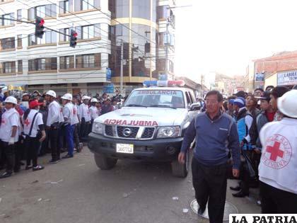 Intervención de salud durante el accidente en el Carnaval del año pasado