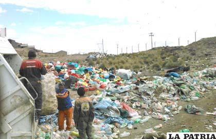 Recojo de material de reciclaje