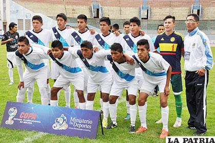 La selección masculina de Oruro