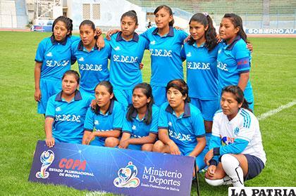 El equipo femenino de Oruro no puede recuperarse