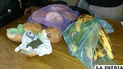Hallaron marihuana dentro de dos panes