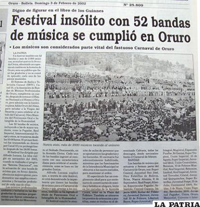 El primer festival se cumplió con 52 bandas