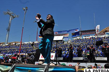 El suboficial Ramiro Zuna hizo bailar a los espectadores