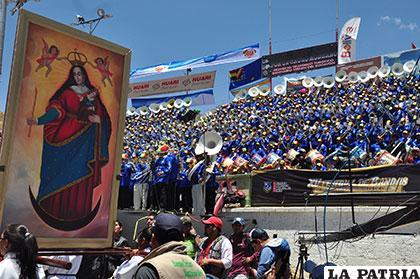 Nuestra Señora del Socavón fue testigo del festival