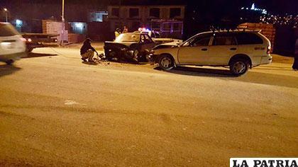 La colisión entre los dos motorizados dejó cinco heridos