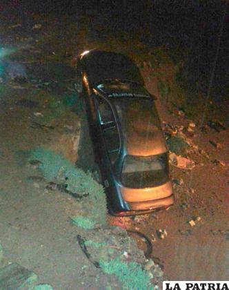 Un vehículo encunetado el pasado sábado 31 de diciembre