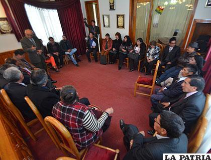 Miembros del Tribunal de Imprenta de Oruro, en su primera reunión