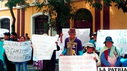 Protestas de diciembre que pedían la liberación de los transportistas /ANF/Archivo