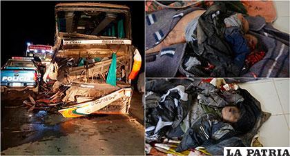 El trágico accidente cobró la vida de cuatro personas, el bus llegaba a la ciudad de Oruro al igual que el camión