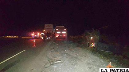 La carretera Oruro - Potosí fue el escenario del fatal incidente