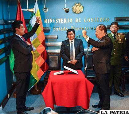 José Luis Quiroga Altamirano, jurando al cargo /ANF