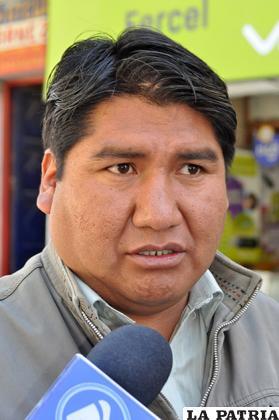 Aniceto Choque, Senador /Archivo