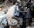 El coche que se embarrancó  en Huanuni la pasada semana