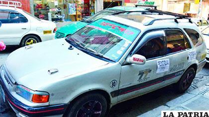 El taxi donde se inició la discusión entre el chofer y la víctima /ERBOL