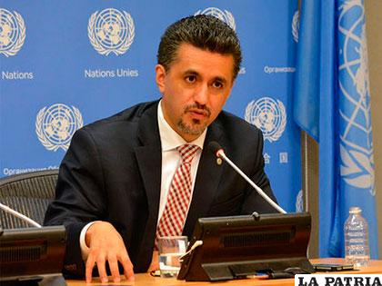 Sacha Llorenti fue ministro de Gobierno, embajador ante la ONU /LA RAZON