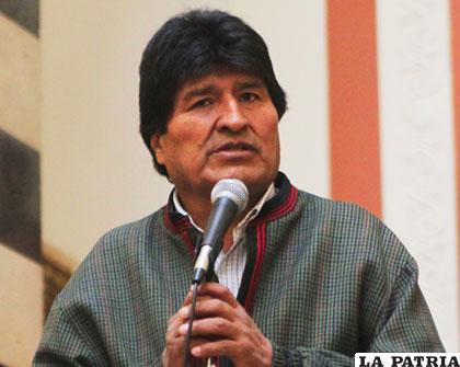 Presidente del Estado, Evo Morales /ANF