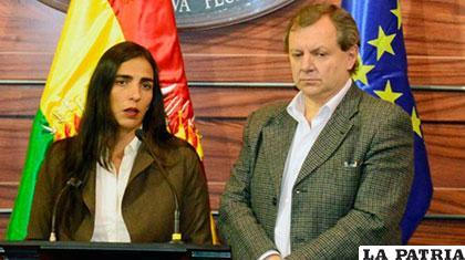 Gabriela Montaño y José Alberto Gonzales /Cámara de Diputados