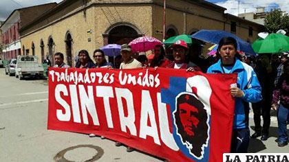 Sintrauto estuvo presente en la marcha contra el Código Penal /UTO