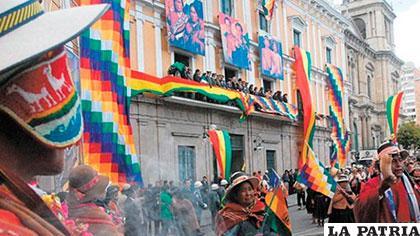 Festejo por Día del Estado Plurinacional /ARCHIVO/EFE