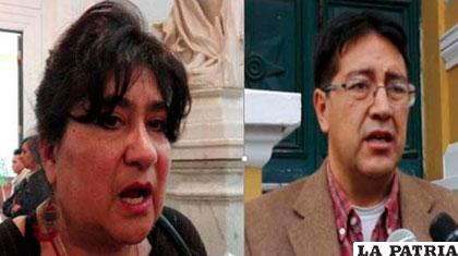 La diputada Jimena Costa y su colega Gonzalo Barrientos (UD) /ANF